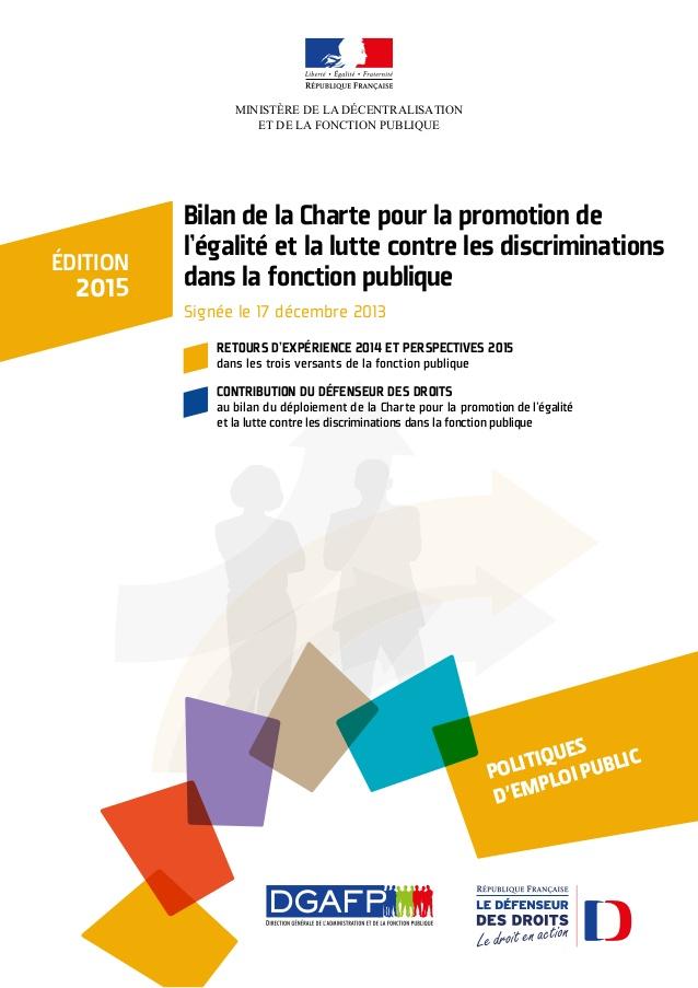 Bilan de la charte pour la promotion de l'égalité et la lutte contre les discriminations dans la fonction publique