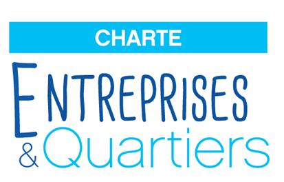 Logo de la charte entreprises et quartiers