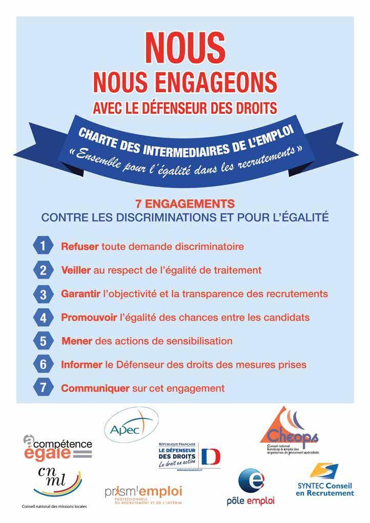 Charte des intermédiaires de l'emploi